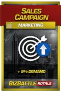 Business Game Card Marketing Sales Campaign