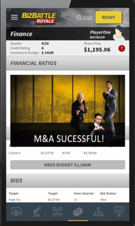 Business Game Screenshot Financial Ratios