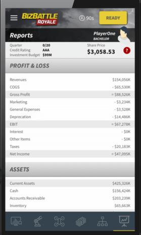 Business Game Screenshot Accounting Report