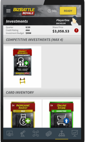 Business Game Screenshot Competitive Investments