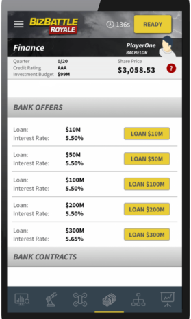 Business Game Screenshot Bank Offers